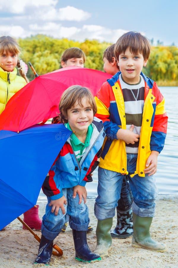 Höstparaplyer royaltyfri foto