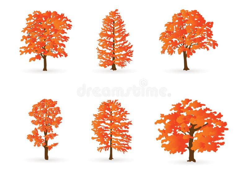 hösttrees royaltyfri illustrationer
