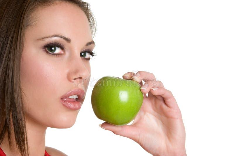 Hübsche Apple-Frau lizenzfreies stockfoto
