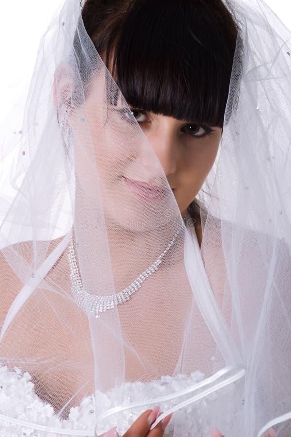 Hübsche Brautnahaufnahme lizenzfreies stockbild