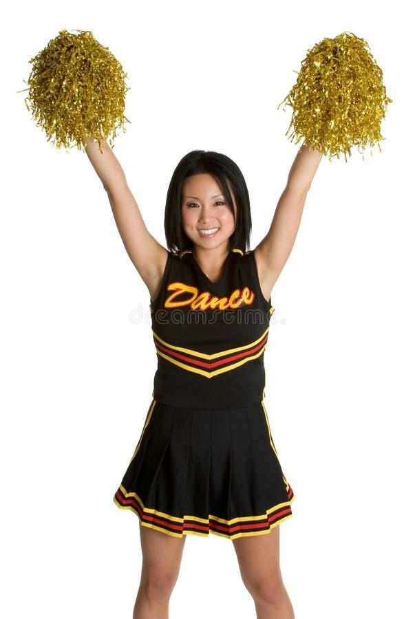 Hübsche Cheerleader stockfoto