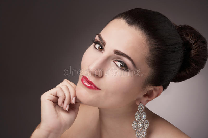 Hübsche Frau stockfoto