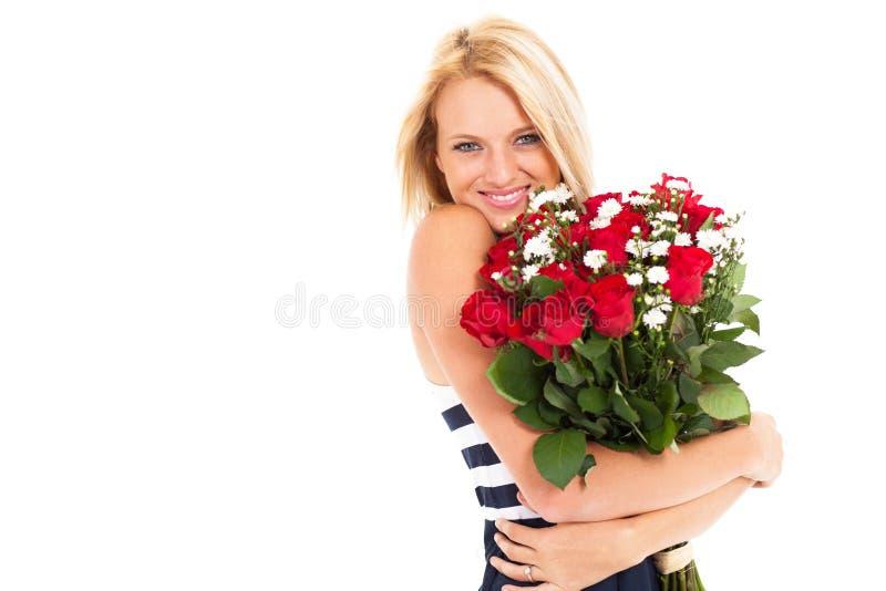 Hübsche Frauenrosen stockbilder