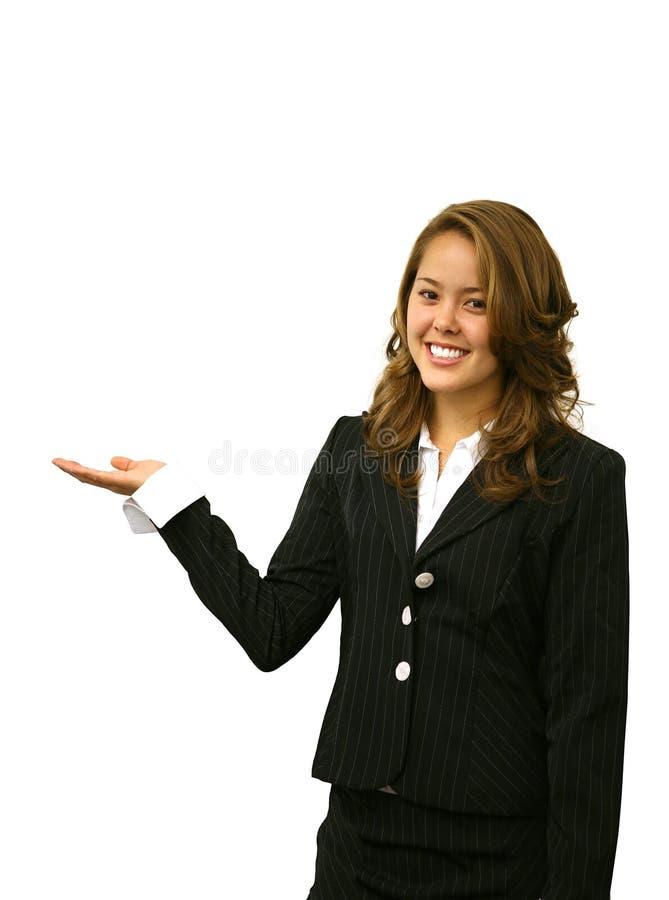 Hübsche Geschäftsfrau stockbild