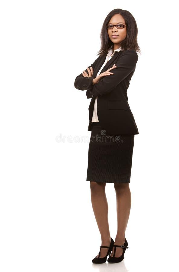Hübsche Geschäftsfrau stockfotografie