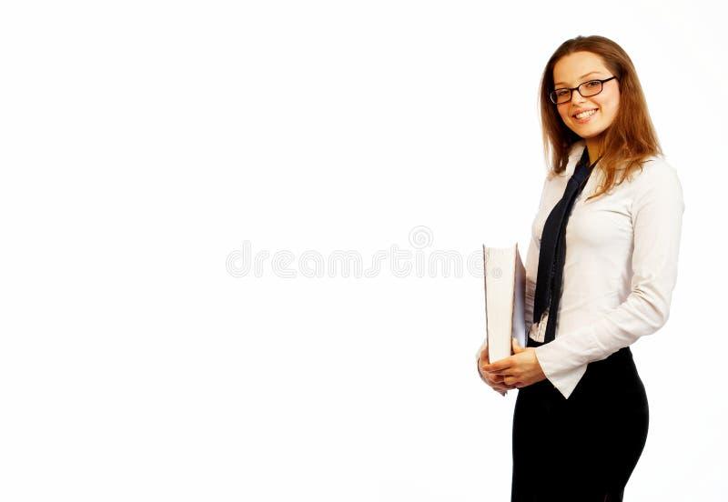 Hübsche Geschäftsfrau. lizenzfreies stockfoto