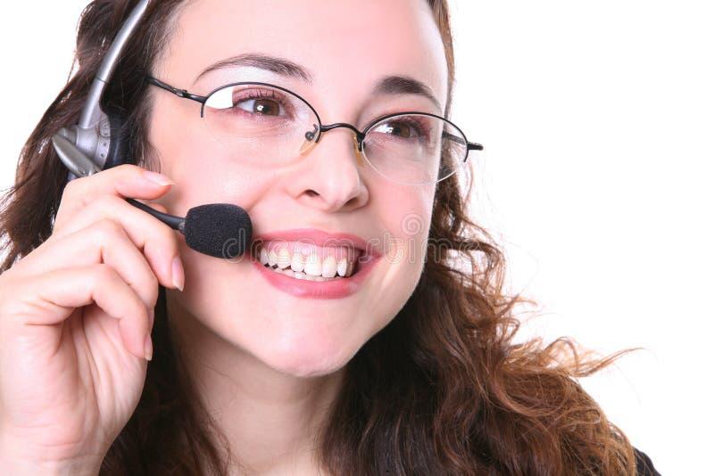 Hübsche Geschäftsfrau am Telefon lizenzfreie stockbilder