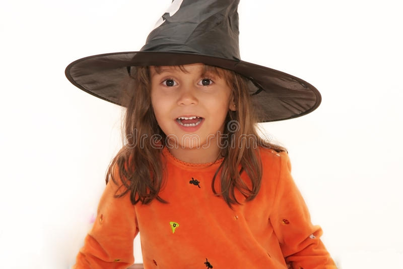 Hübsche Halloween-Hexe stockfotos