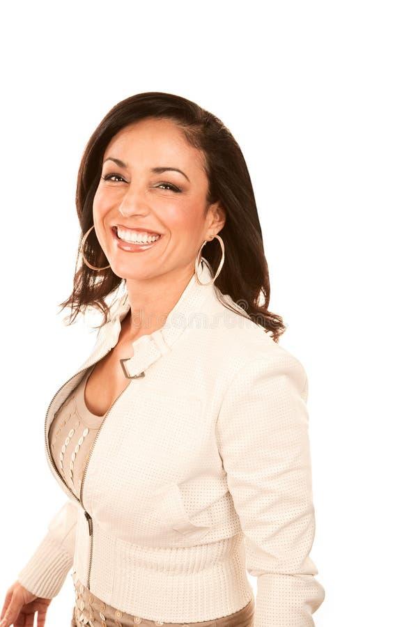 Hübsche hispanische Frau lizenzfreies stockfoto