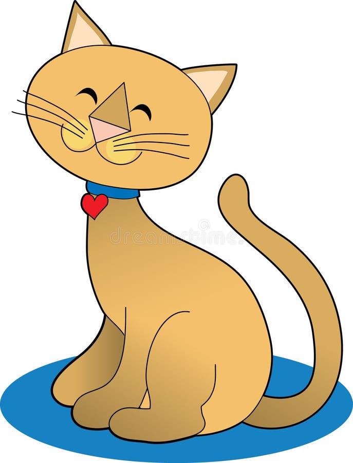 Hübsche Katze lizenzfreie abbildung