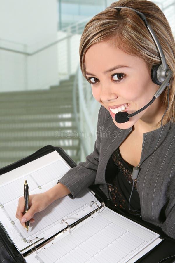Hübsche Kundendienst-Frau stockfotos