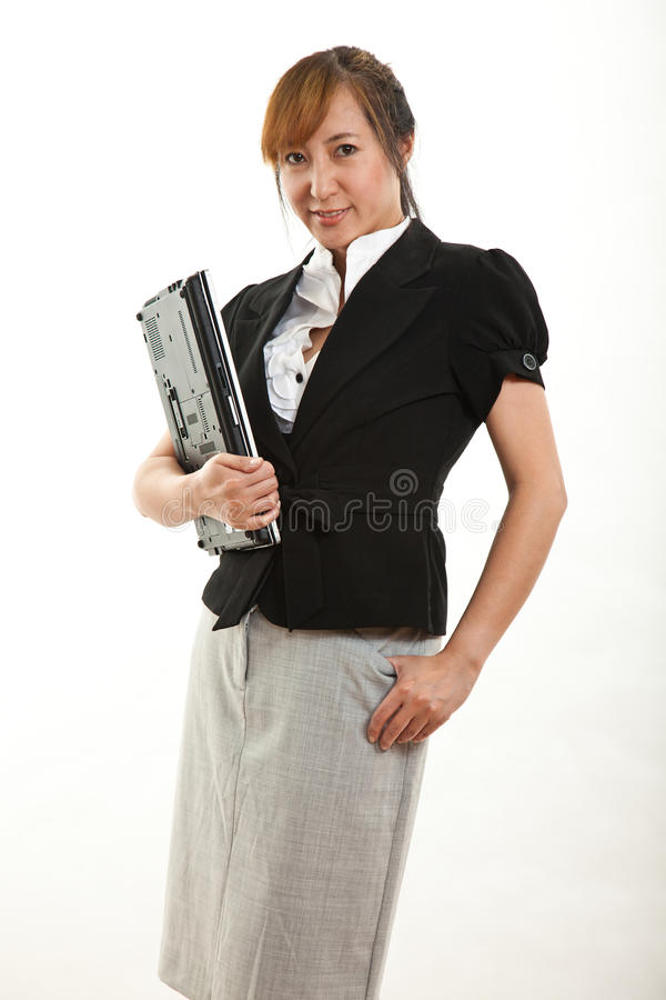 Hübsche Vierzigerasiatgeschäftsfrau Stockfoto