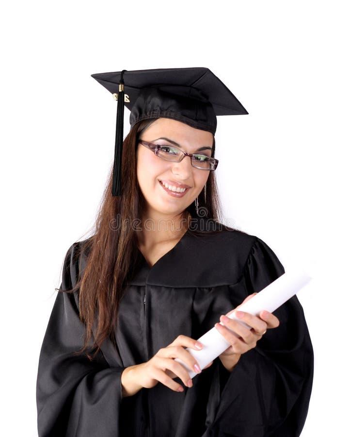 Hübscher Absolvent lizenzfreie stockbilder