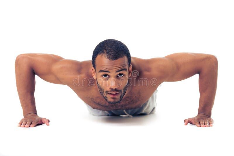 Hübscher afroer-amerikanisch Sportler stockbilder