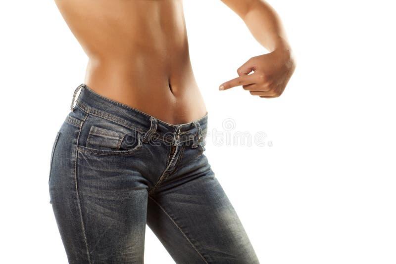 Hübscher Bauch stockfoto