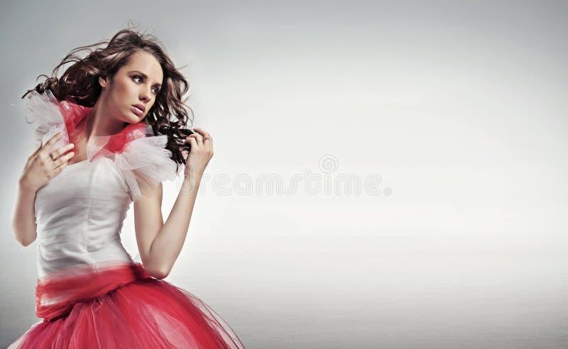 Hübscher Brunette lizenzfreie stockfotos