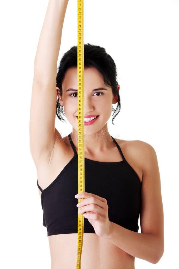 Download Hübscher Lächelnder Frauenholdingmessen-Typ Stockbild - Bild von obacht, reizvoll: 27729539
