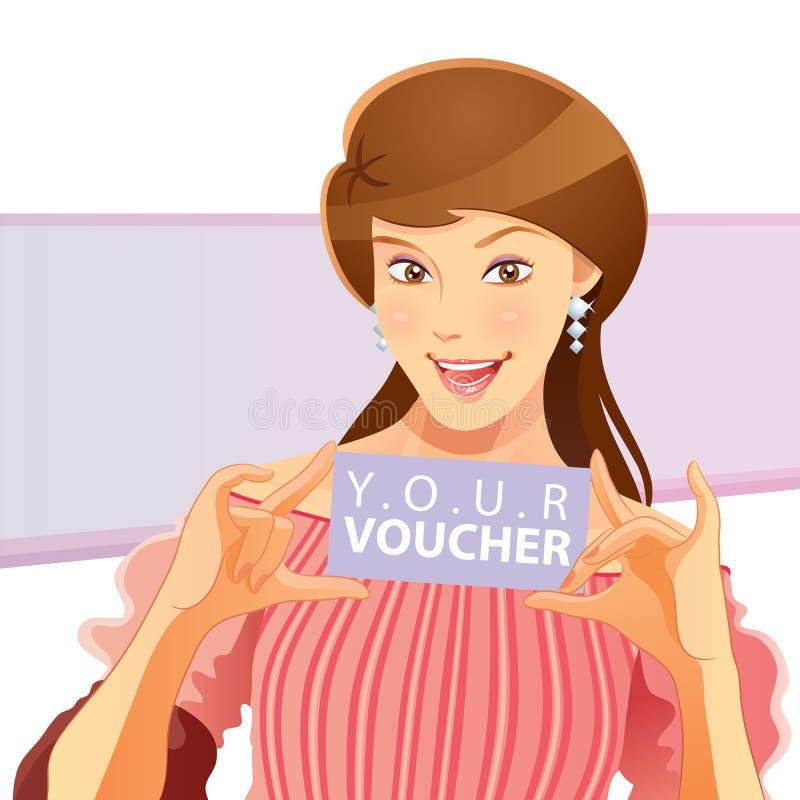 Hübscher Mädchen-Holding-Zeuge lizenzfreie abbildung