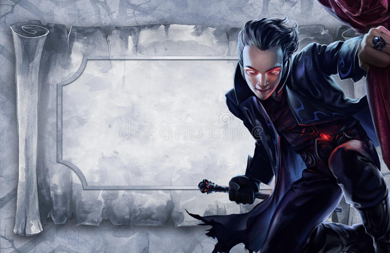 Hübscher männlicher Vampir vektor abbildung