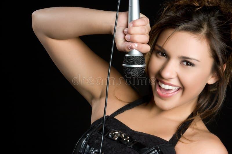 Hübscher Sänger stockfotos