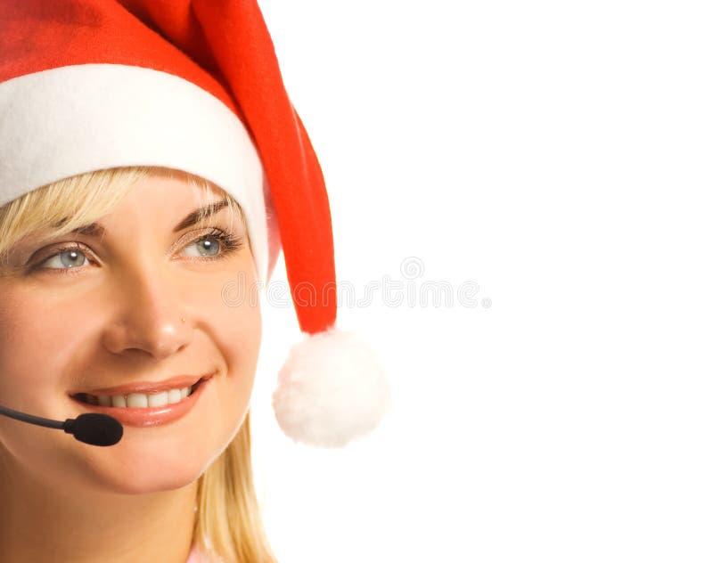 Hübscher Telefonbediener lizenzfreie stockfotos