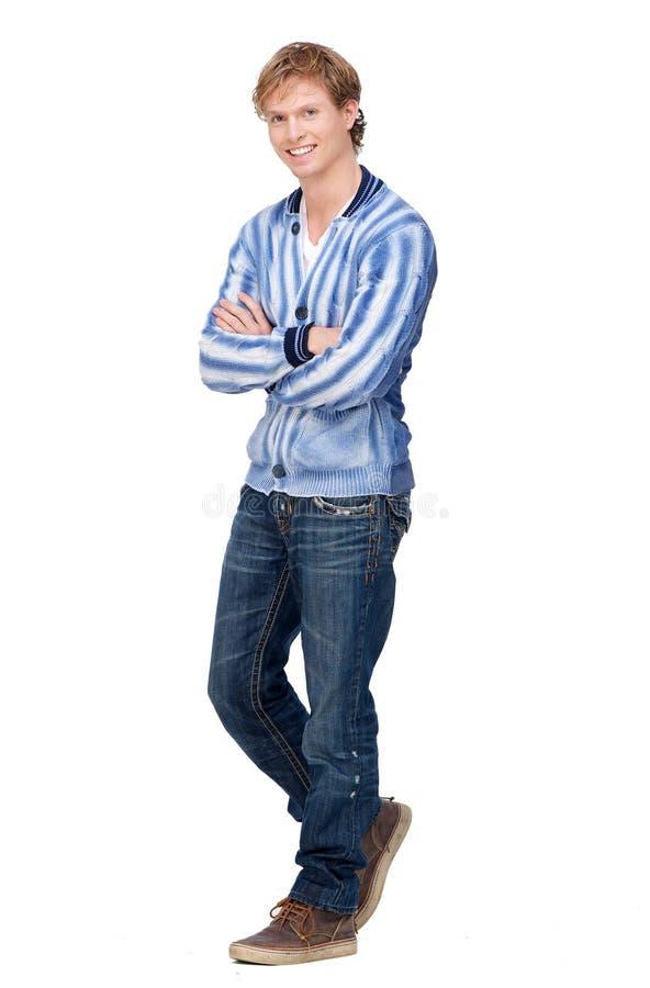Hübsches junger Mann-Porträt in voller Länge lizenzfreies stockfoto