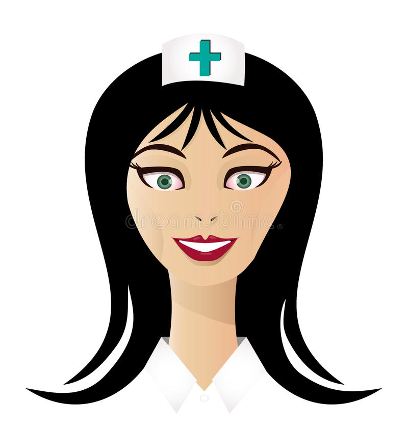 Hübsches Krankenschwestergesicht stock abbildung