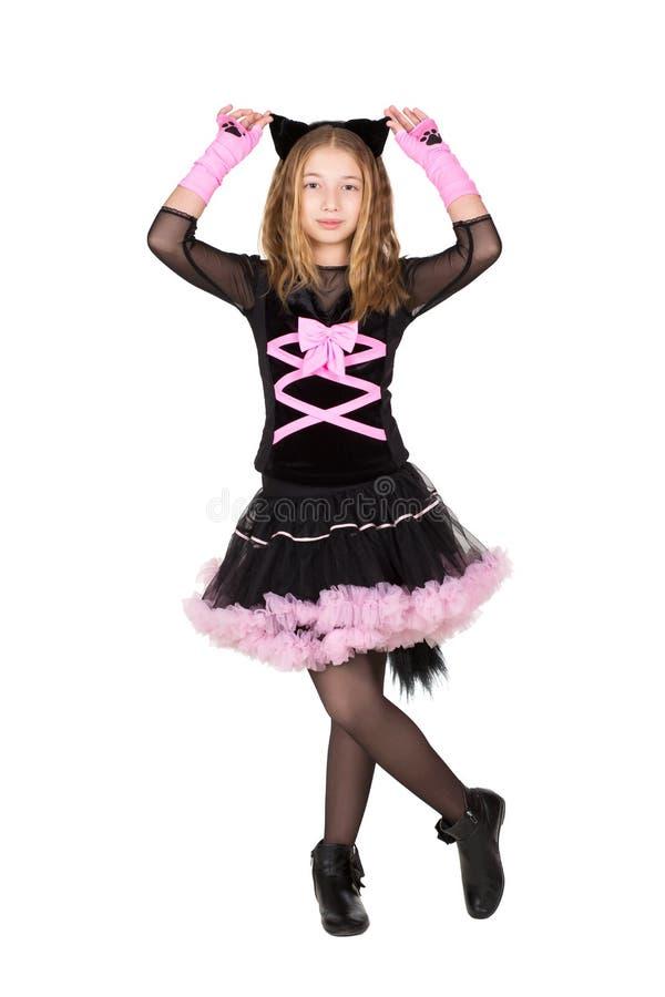 Hübsches Mädchen im catsuit lizenzfreie stockfotografie