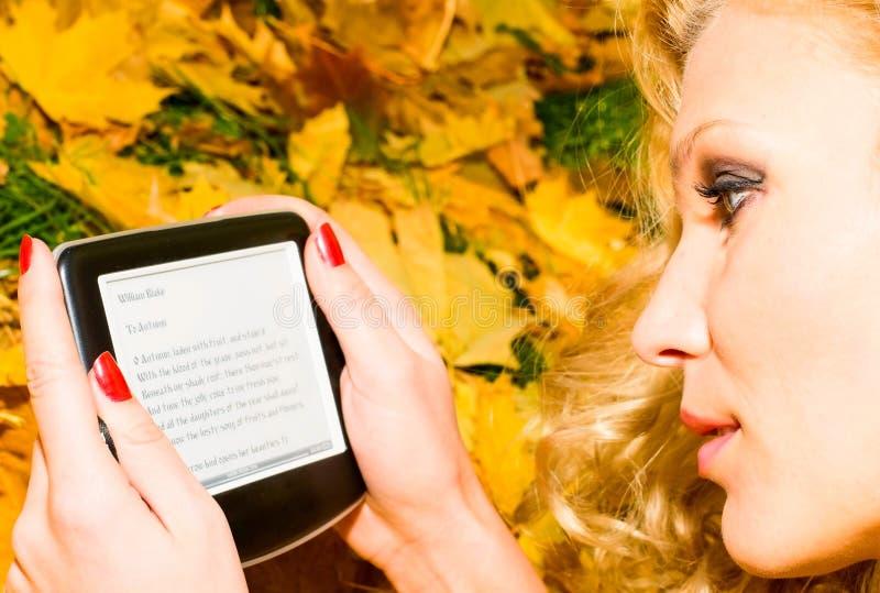 Hübsches Mädchen im Herbstpark lizenzfreie stockfotografie