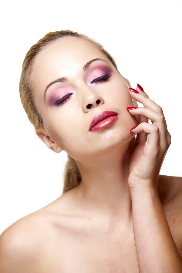 Hübsches Mädchen mit einer sauberen Haut lizenzfreies stockbild