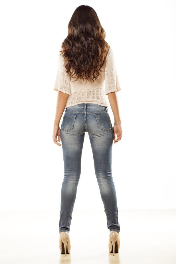 Hübsches Mädchen von hinten stockfoto