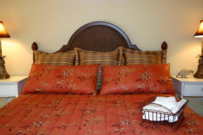 Hübsches Schlafzimmer stockfoto
