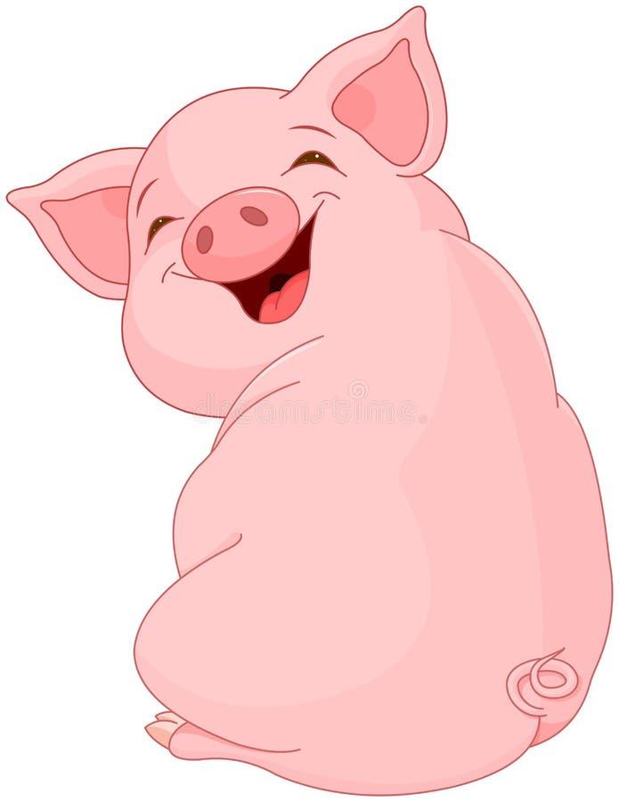 Hübsches Schwein lizenzfreie abbildung
