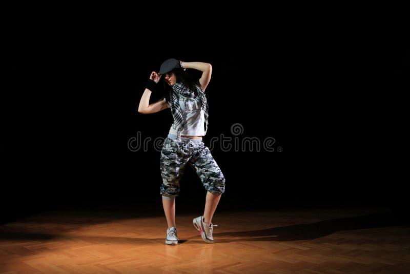 Hüftehopfenmädchen im Tanz lizenzfreies stockbild