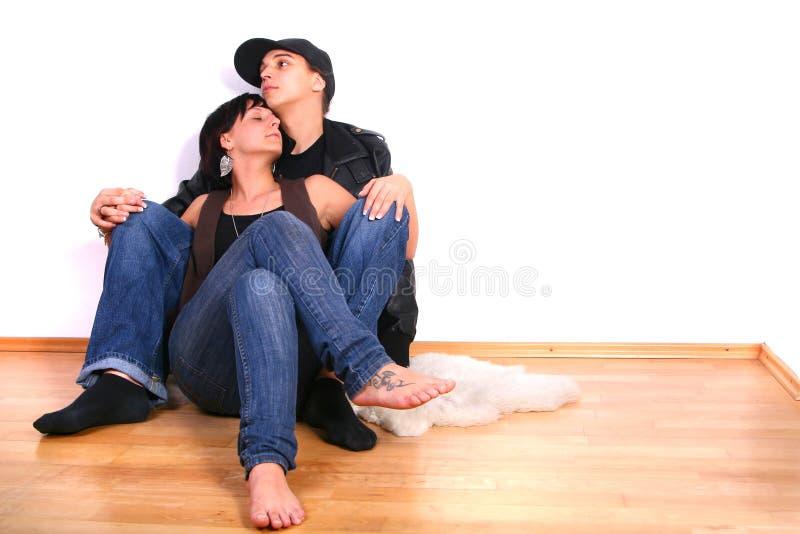 Hüftehopfenpaare in der Liebe lizenzfreie stockfotos