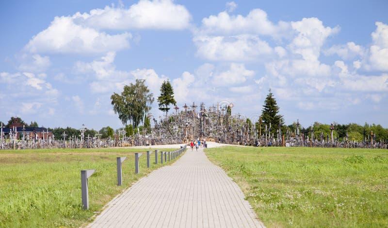 Hügel der Kreuze stockbilder