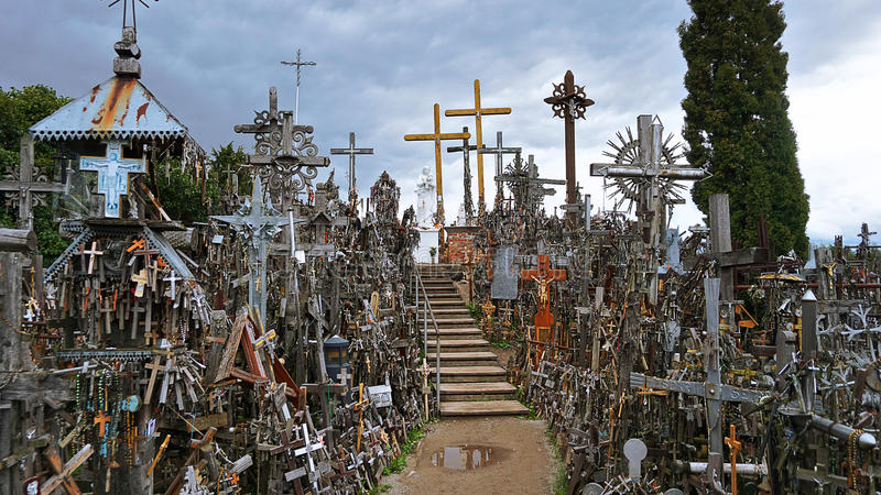 Hügel der Kreuze lizenzfreies stockfoto
