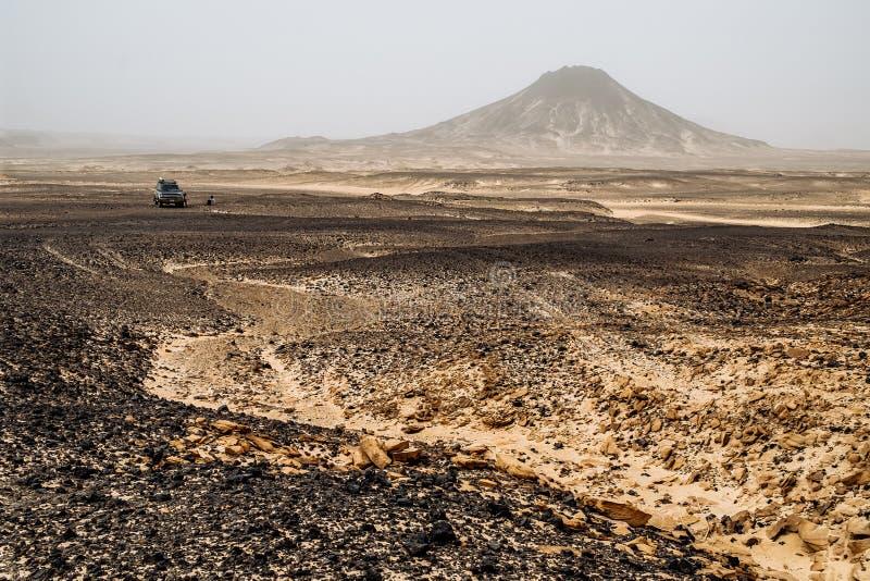 Hügel der schwarzen Wüste, Ägypten Mai 2018 lizenzfreie stockbilder