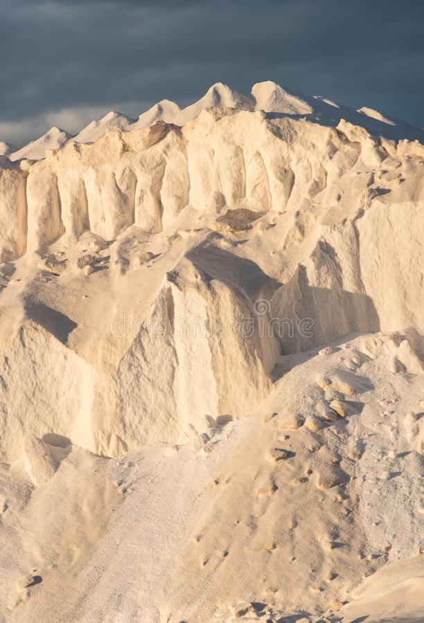 Hügel des Salzes, wenn Sonne geglättet wird stockbilder
