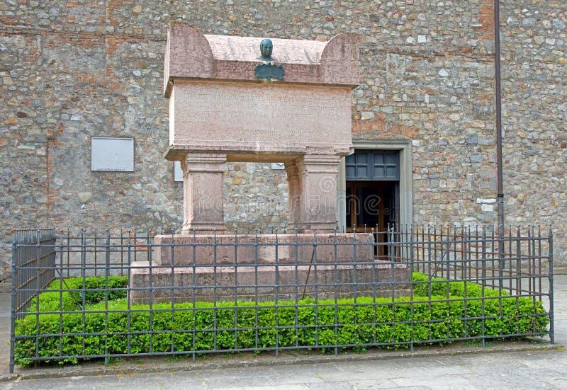 HügelItalien Arquà Petrarca Euganean stockfotografie