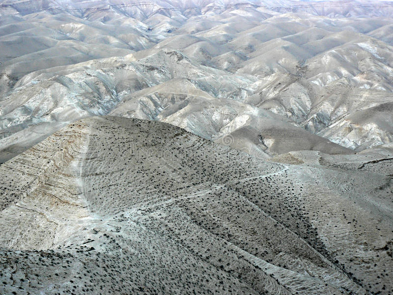 Hügel von Judean-Wildnis stockfotos