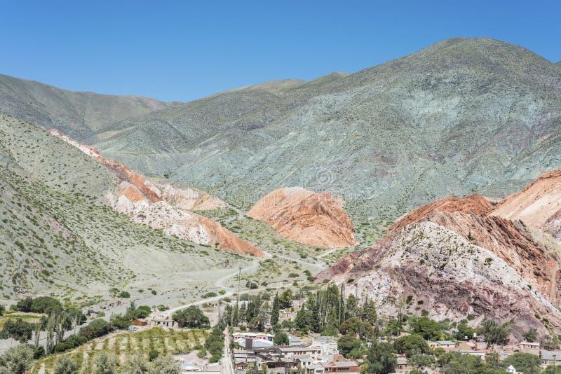 Hügel von sieben Farben in Jujuy, Argentinien stockfotos