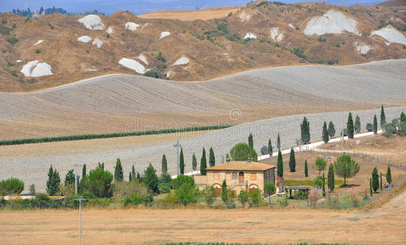 Hügel von Toskana, Italien stockbilder