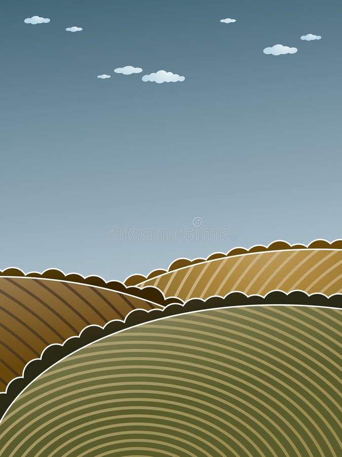 Hügelige Landschaft stock abbildung