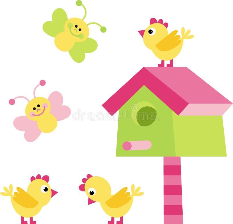 Hühner und Basisrecheneinheiten vektor abbildung