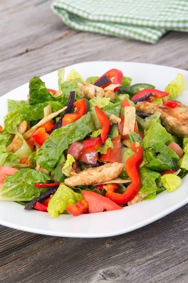 Hühner- und Gemüsesommersalat stockfoto