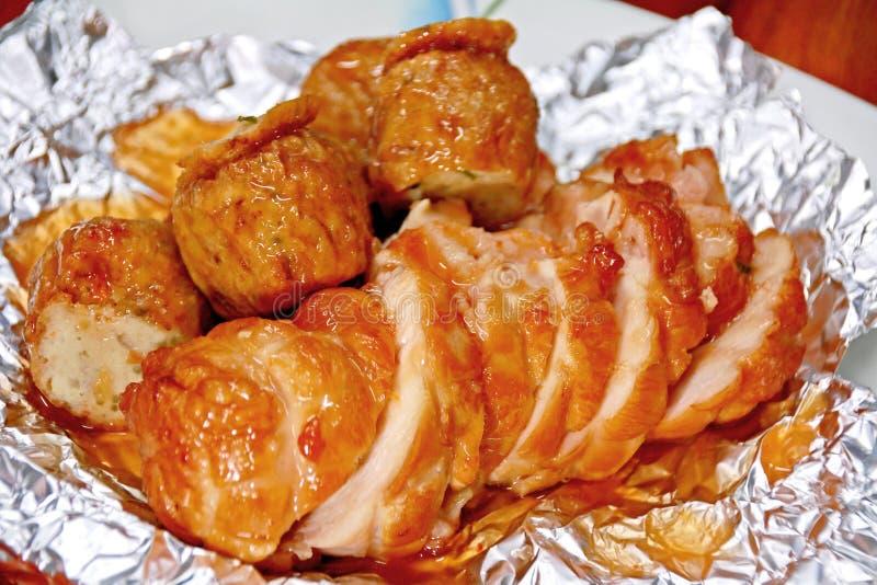 Hühnerbrühe und Hühnerbrühe sind sehr köstlich lizenzfreies stockbild