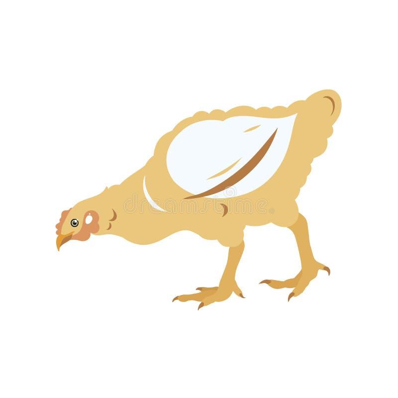 Hühnerbratrost geflügel Aufkleber für Hühnerprodukte bewirtschaften Viehzucht lizenzfreie abbildung