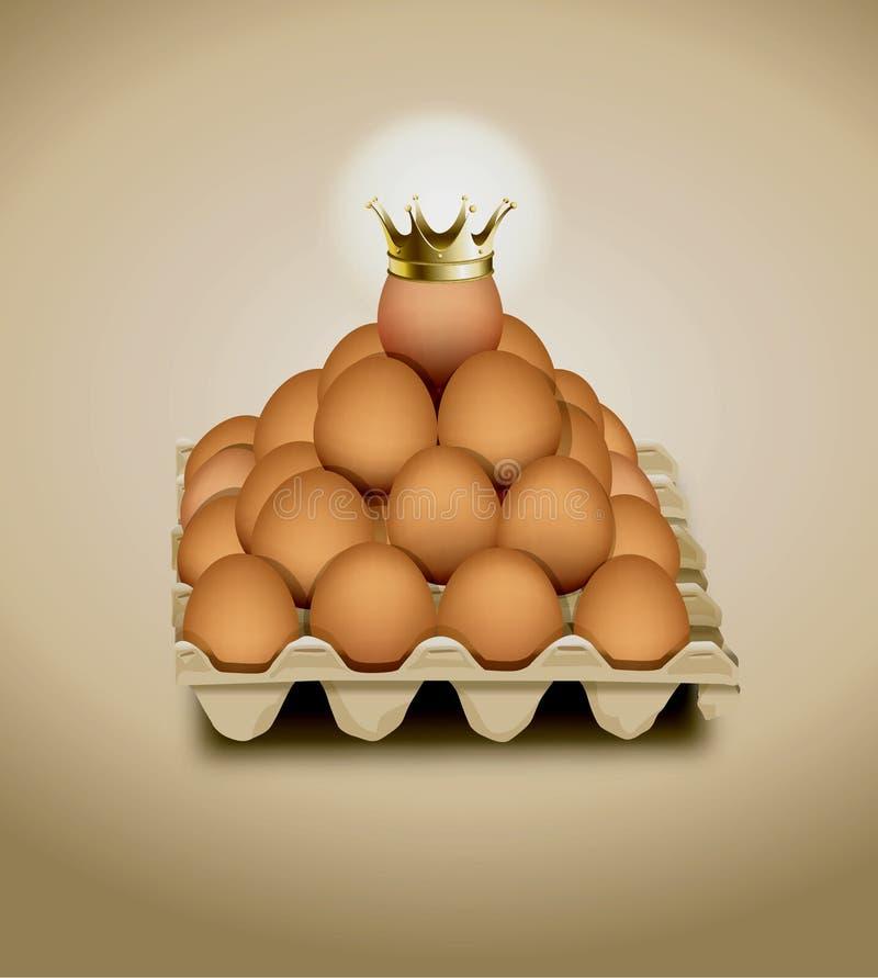 Hühnerei in den Platteneiern lizenzfreie abbildung