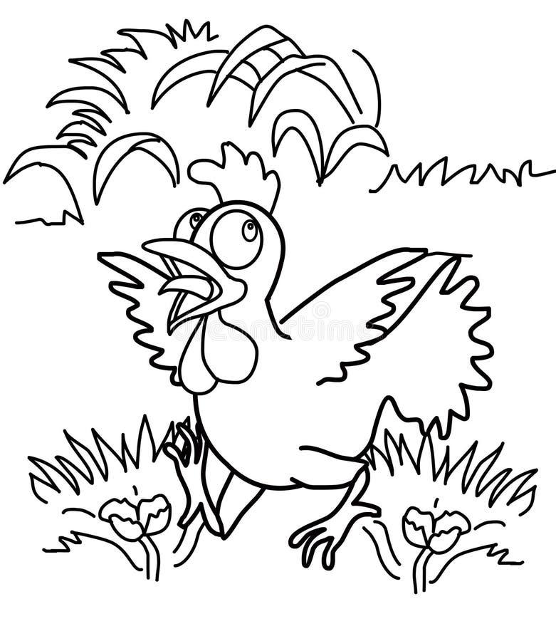 Hühnerfarbtonseite lizenzfreie abbildung